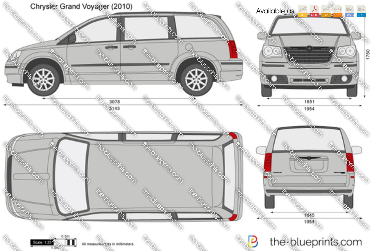 Chrysler Grand Voyager vector drawing