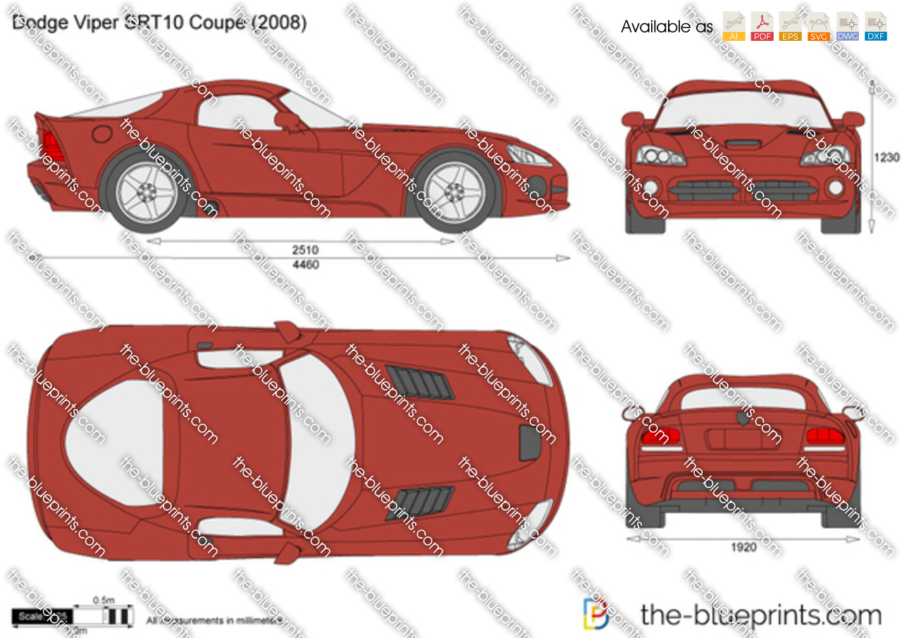 Dodge Viper Srt10 Coupe Vector Drawing