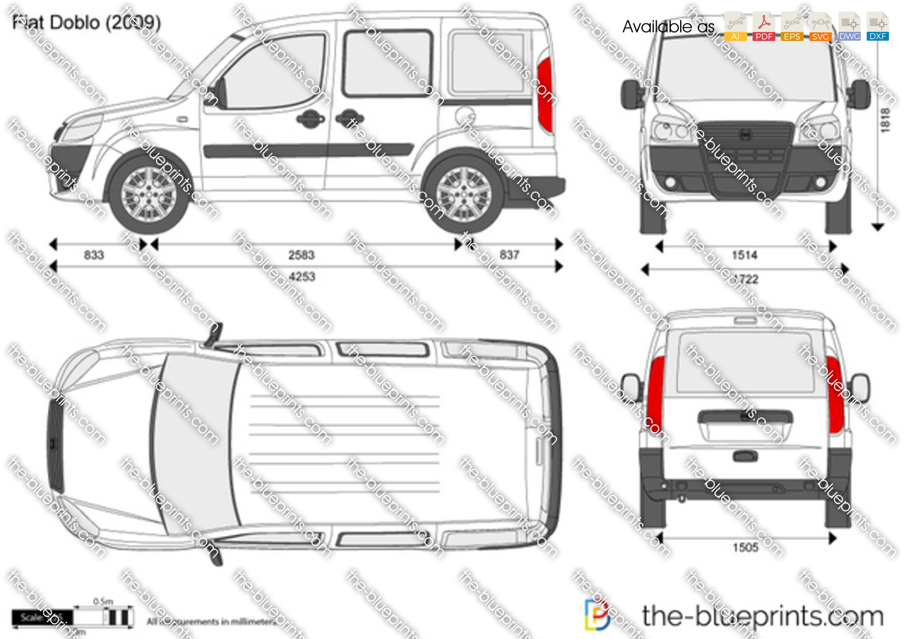 fiat doblo cargo swb vector drawing. Black Bedroom Furniture Sets. Home Design Ideas