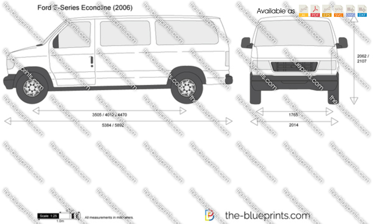 The Blueprints Com Vector Drawing Ford E Series Econoline