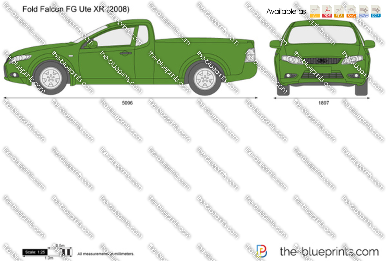 Ford Falcon Fg Ute Xr Vector Drawing