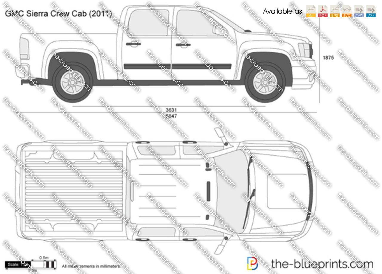 Gmc Sierra Vector Drawing