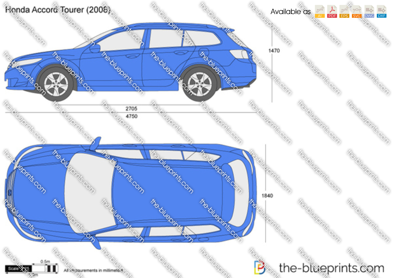 The blueprints vector drawing honda accord tourer honda accord tourer sciox Image collections
