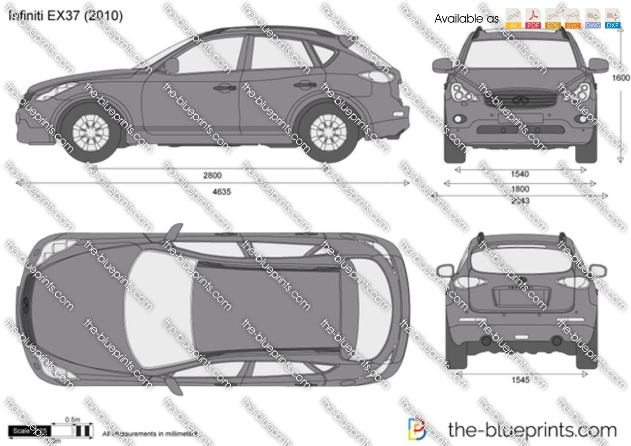 The blueprints vector drawing infiniti ex37 2013 infiniti ex37 vanachro Images