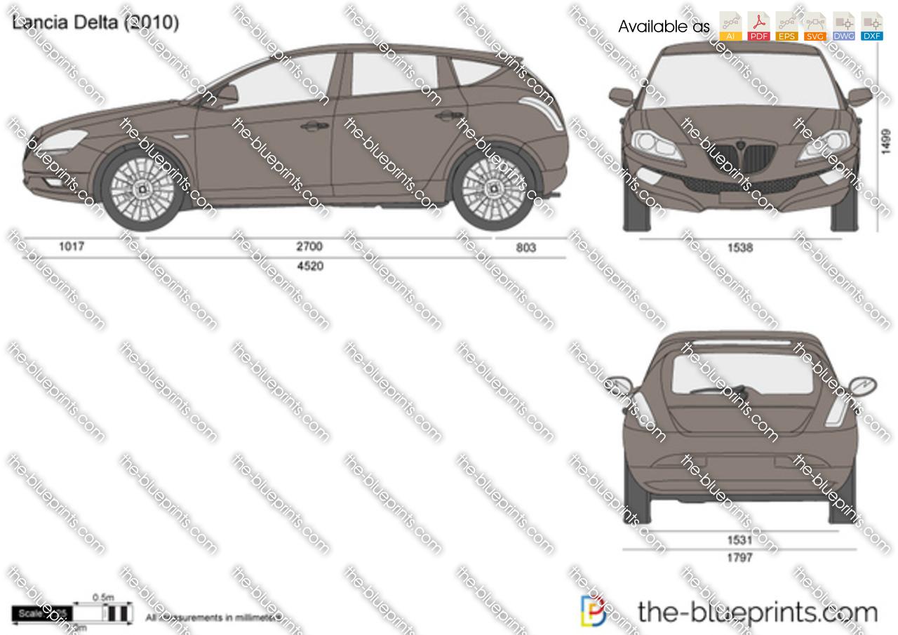 The blueprints vector drawing lancia delta lancia delta vanachro Gallery