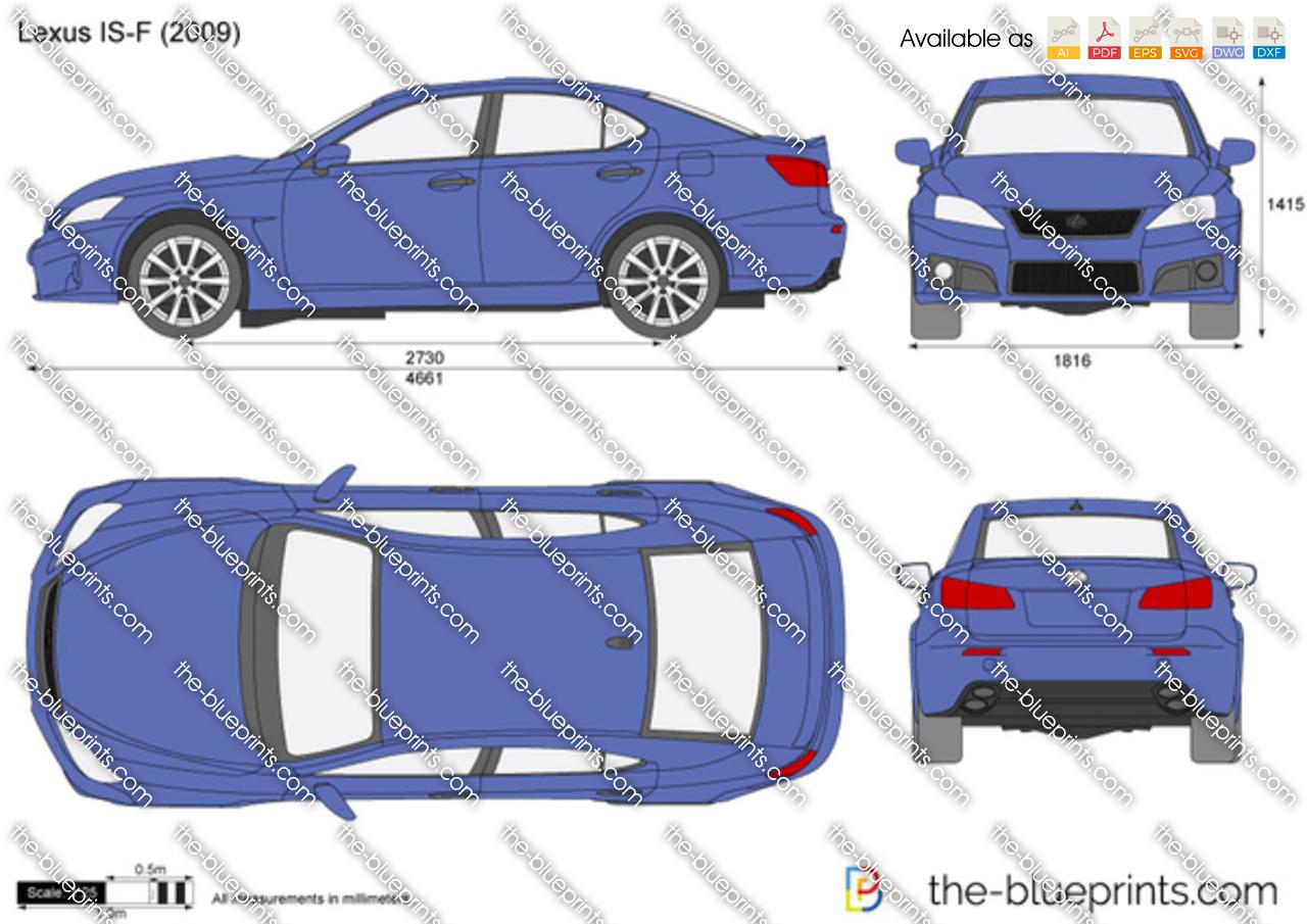Lexus F Sport Price >> Lexus IS-F vector drawing