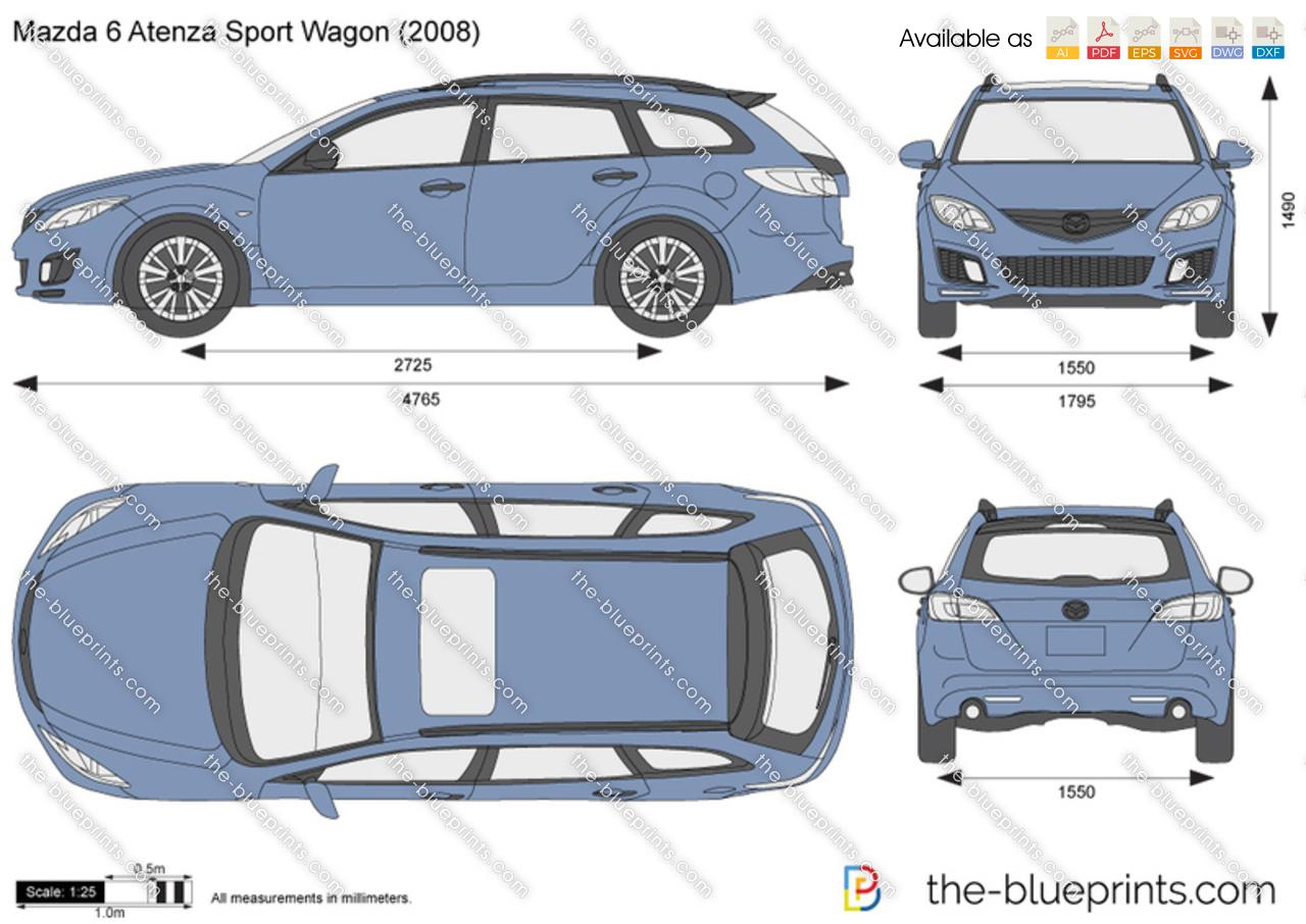 The Blueprints Com Vector Drawing Mazda 6 Atenza Sport