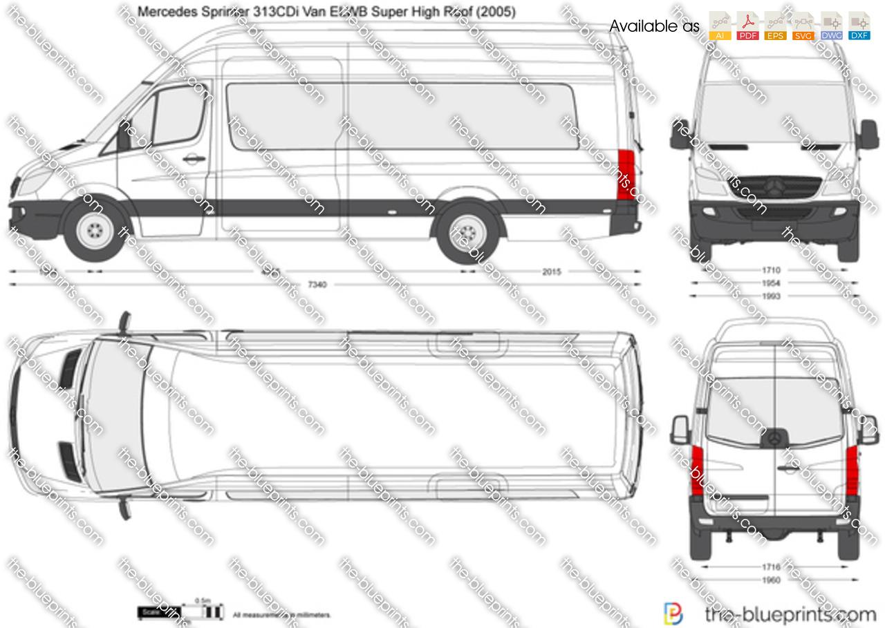 Mercedes Benz Sprinter 313cdi Van Elwb Super High Roof