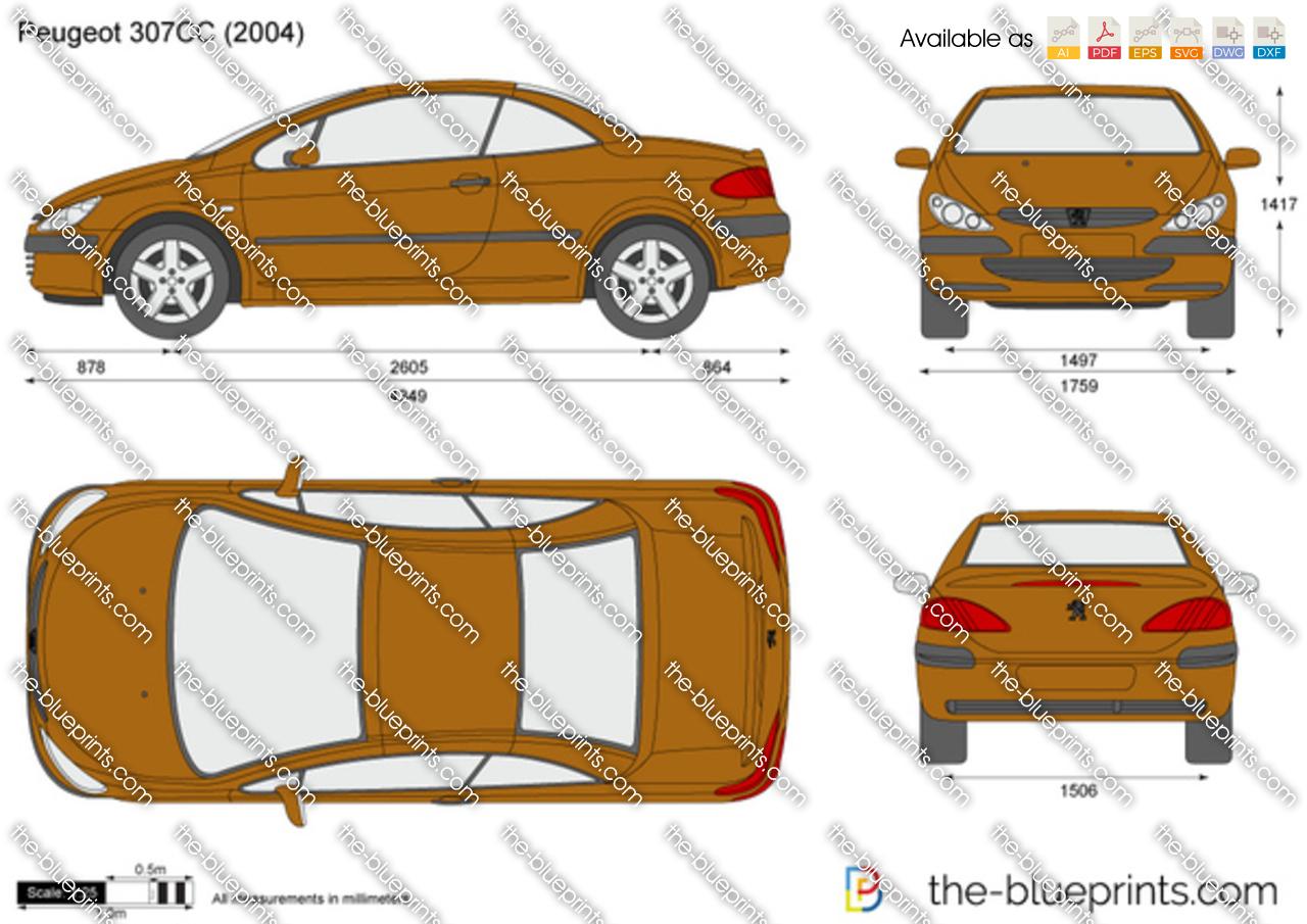 The Blueprints Com Vector Drawing Peugeot 307cc