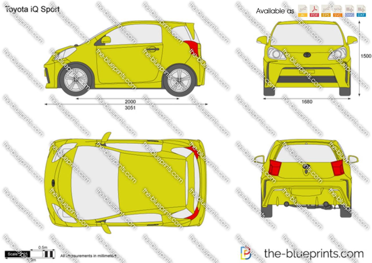 The blueprints com vector drawing toyota iq sport