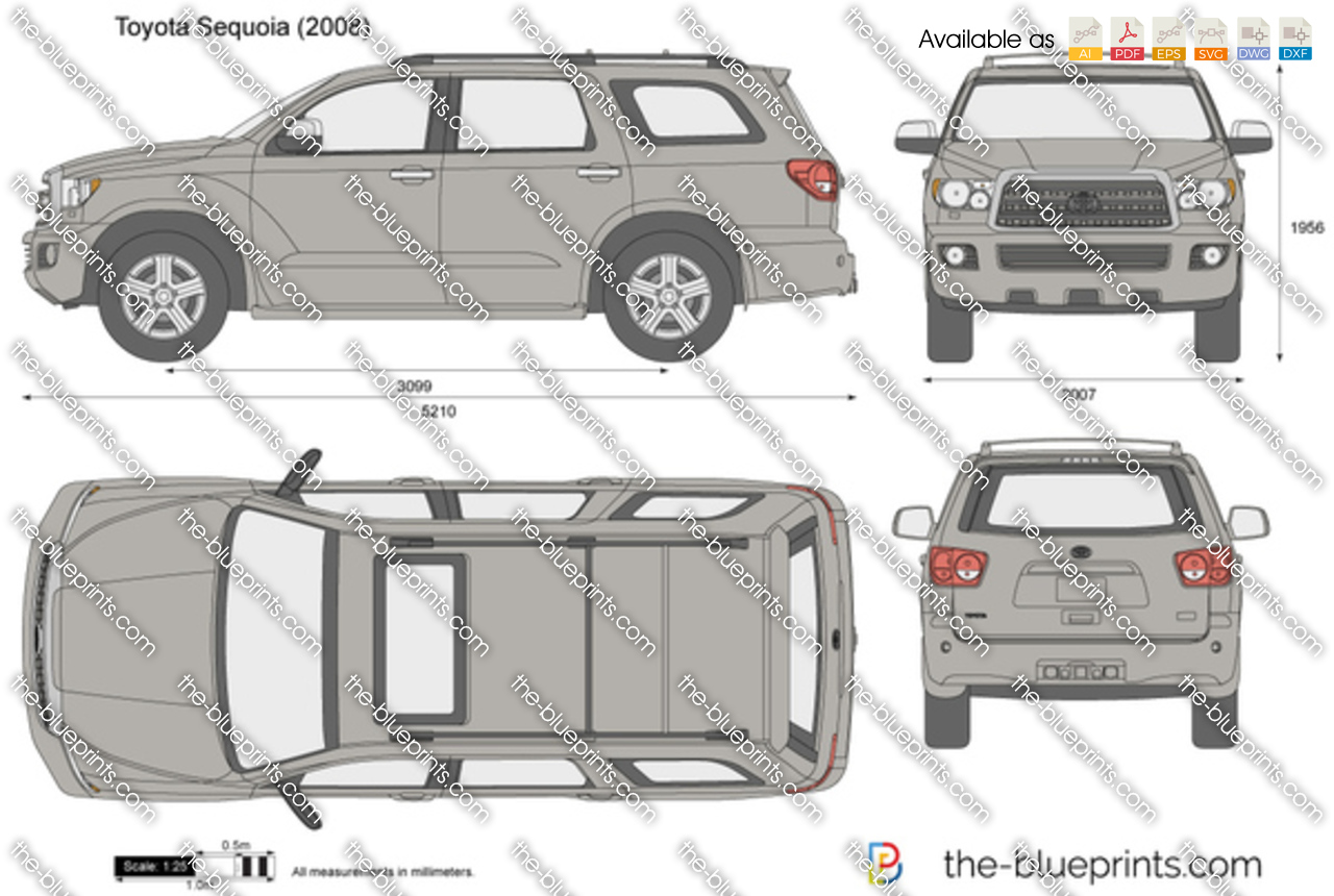 Toyota Sequoia vector drawing