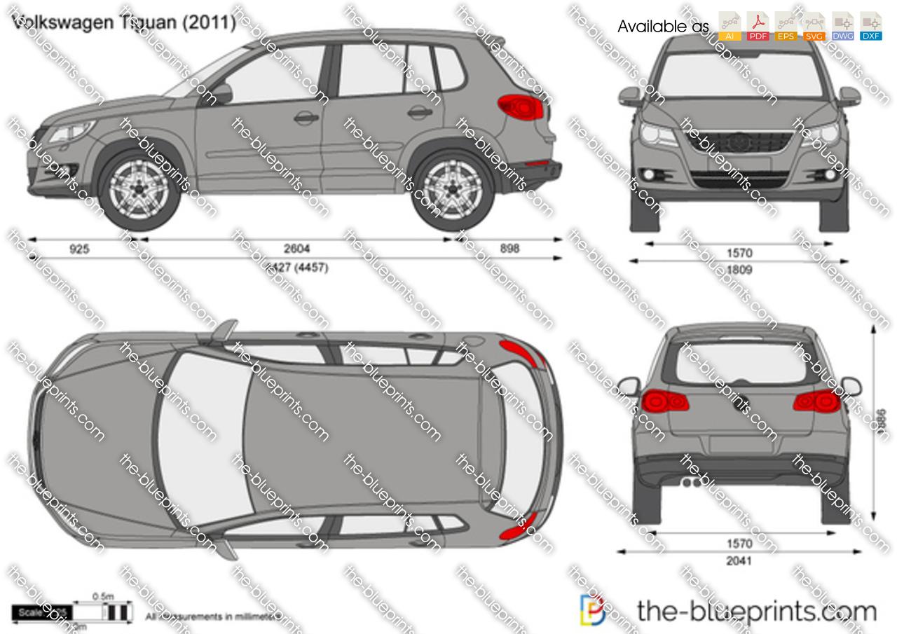 the vector drawing volkswagen tiguan. Black Bedroom Furniture Sets. Home Design Ideas
