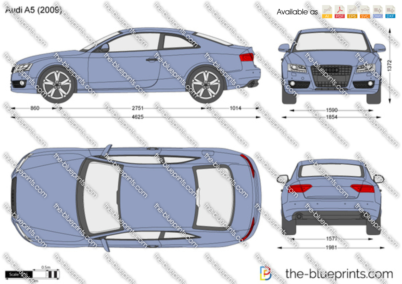 the vector drawing audi a5. Black Bedroom Furniture Sets. Home Design Ideas