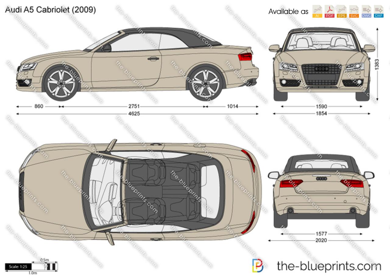 The Blueprints Com Vector Drawing Audi A5 Cabriolet