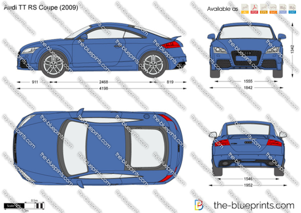 Audi Tt Rs Coupe Vector Drawing