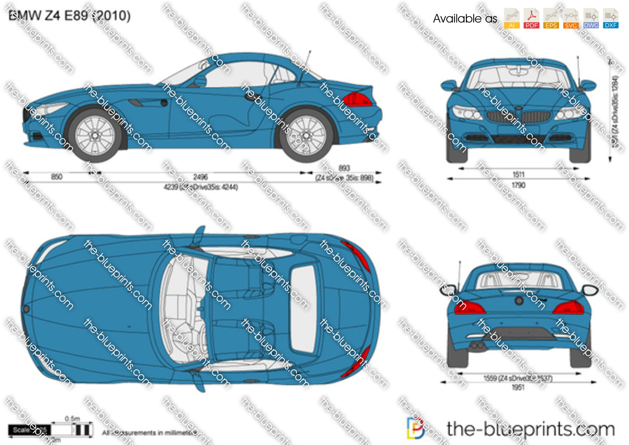 Bmw Z4 E89 Vector Drawing