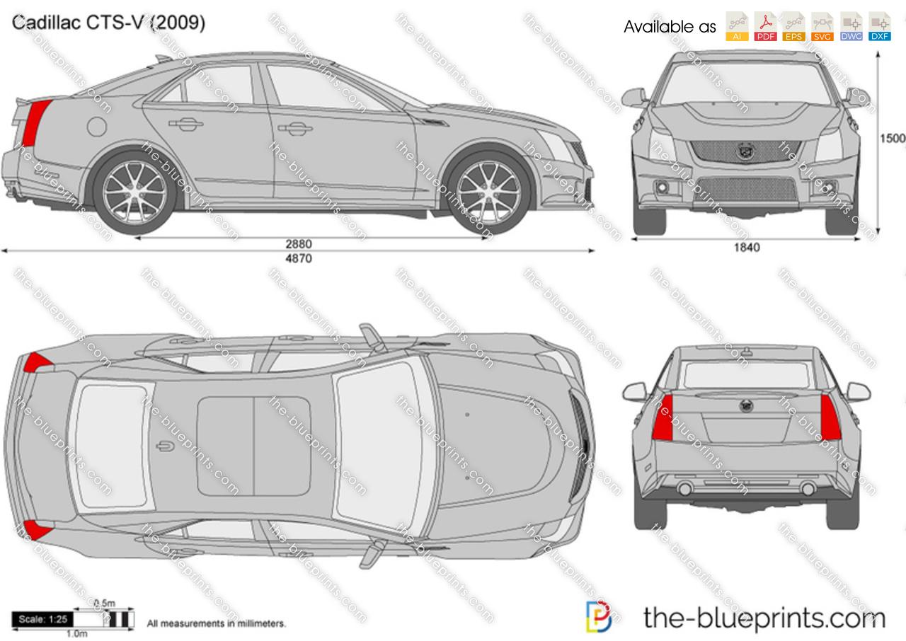 Nice Cadillac Car Blue Print Hd Elaboration - Wiring Standart ...