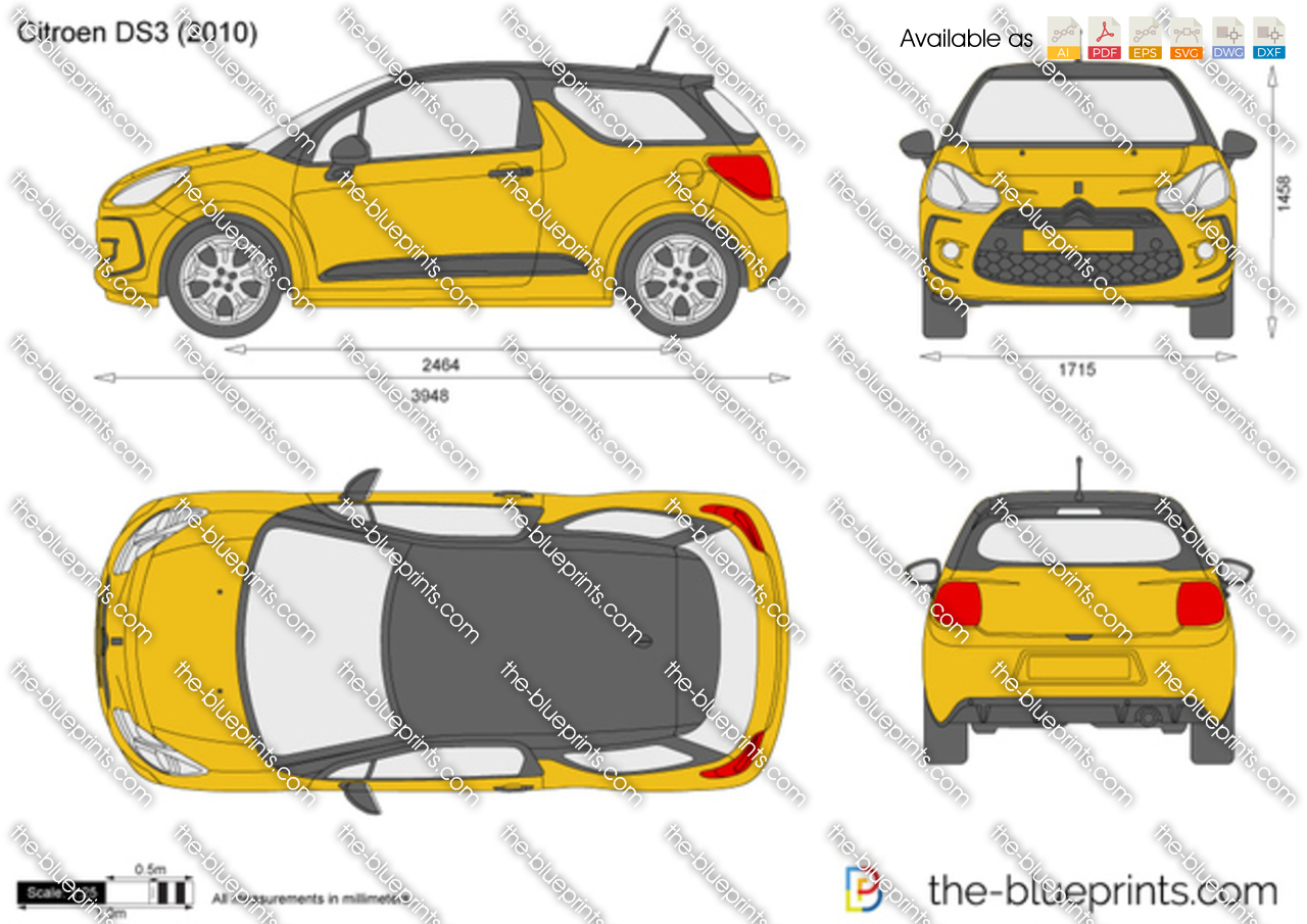 citroen ds3 vector drawing. Black Bedroom Furniture Sets. Home Design Ideas