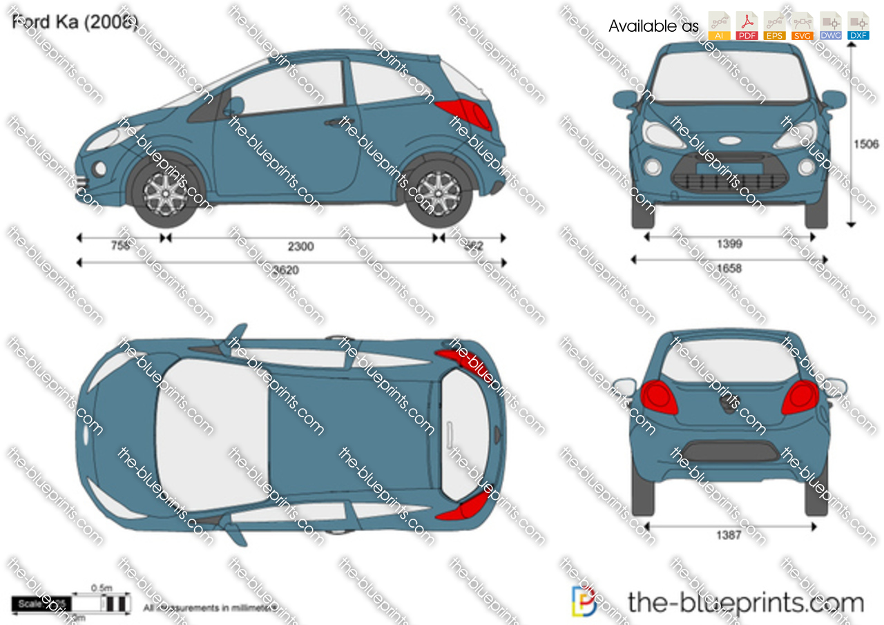 ford ka vector drawing. Black Bedroom Furniture Sets. Home Design Ideas