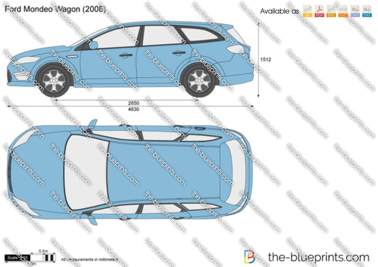Ford Mondeo Wagon Vector Drawing