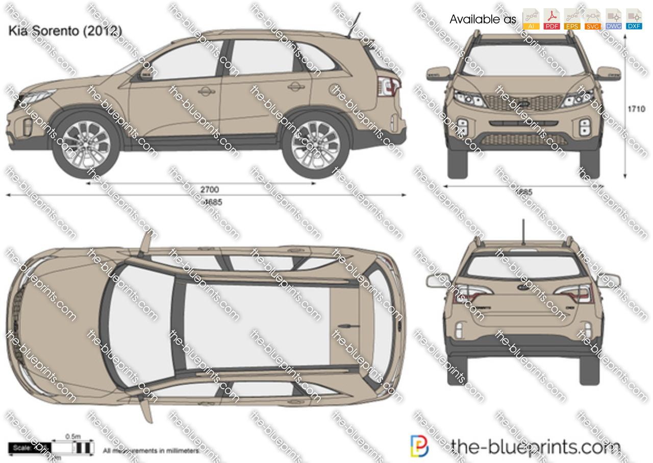 The Blueprints Com Vector Drawing Kia Sorento