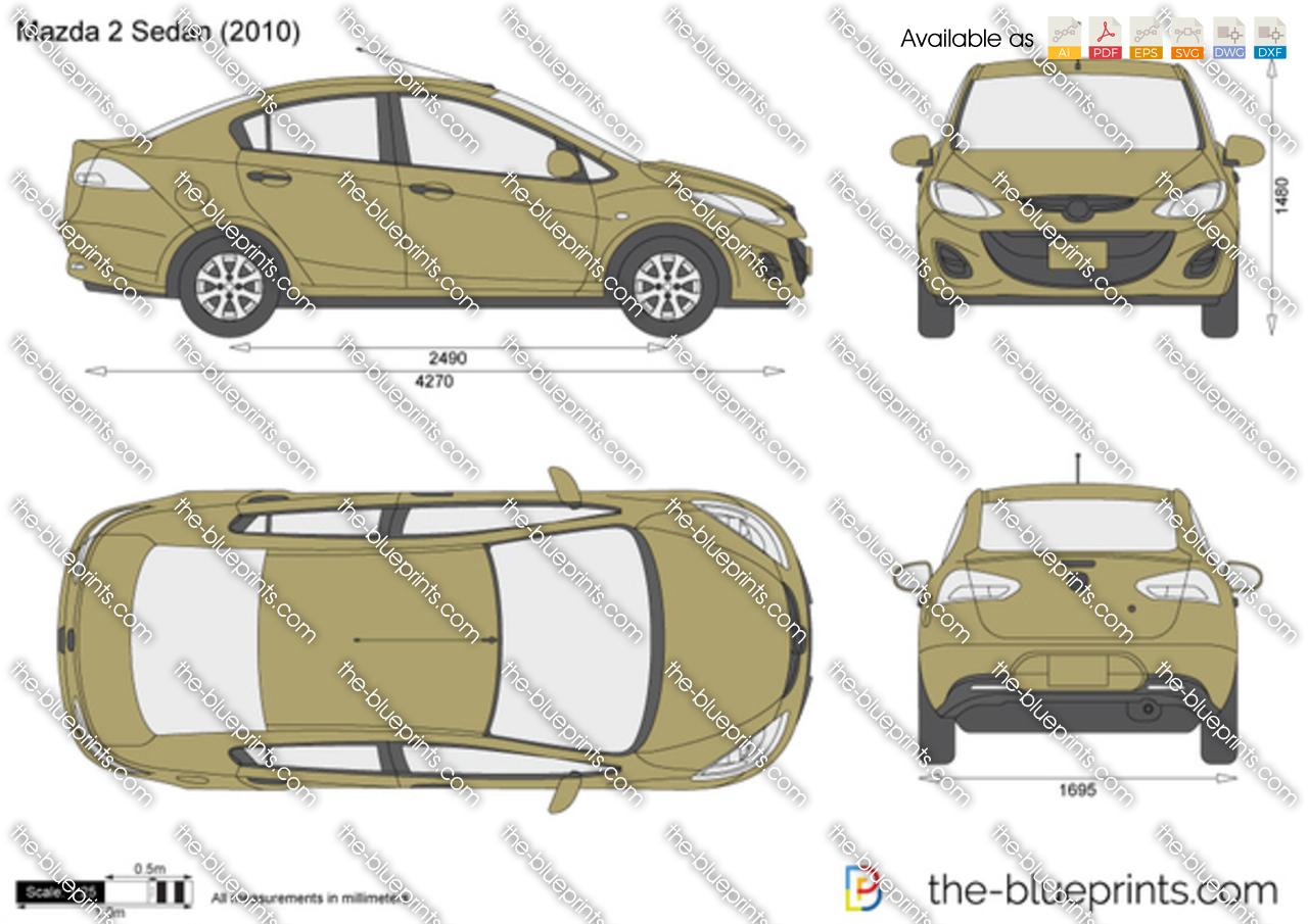 Mazda 2 sedan vector drawing mazda 2 sedan malvernweather Gallery
