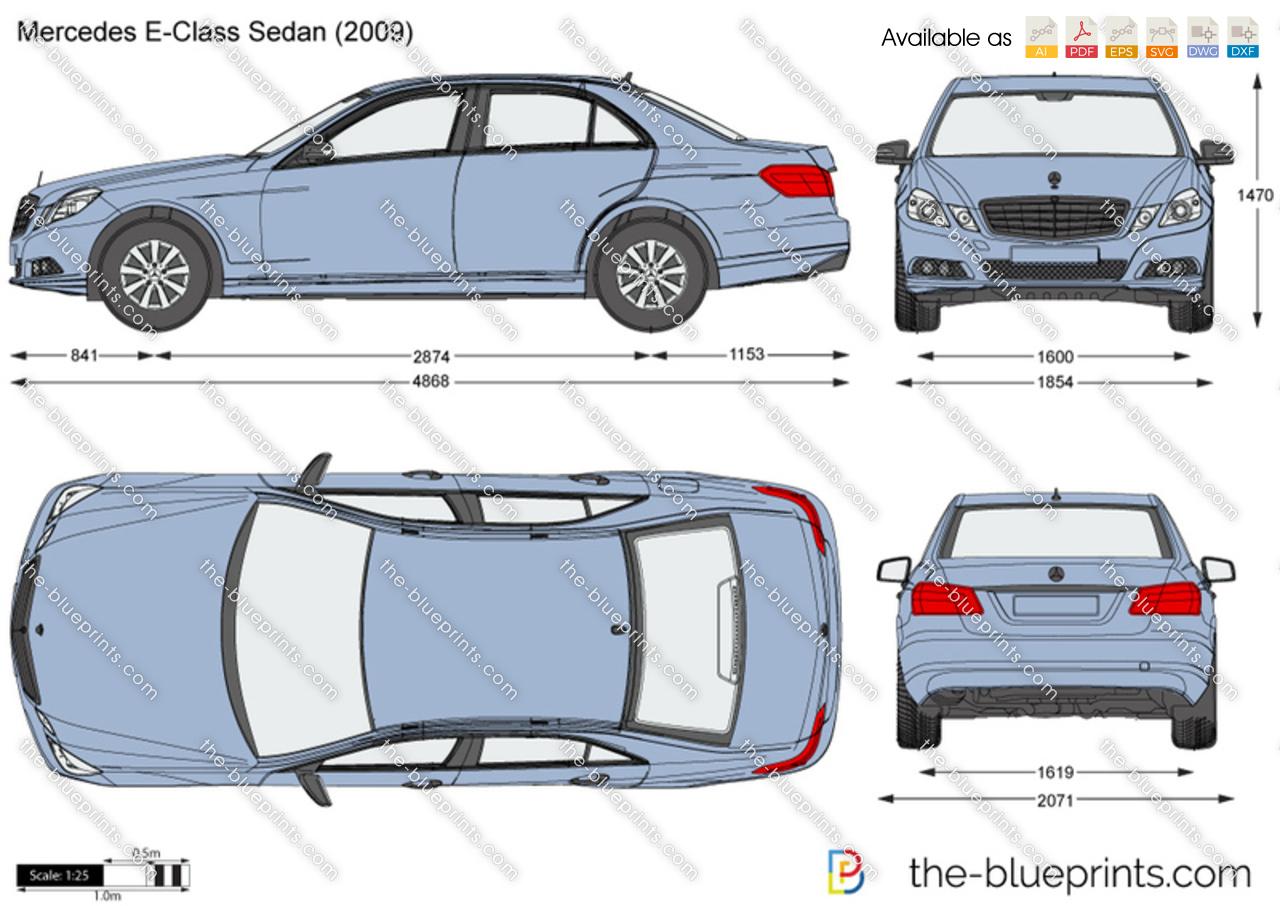 Mercedes Classe S  Blueprints