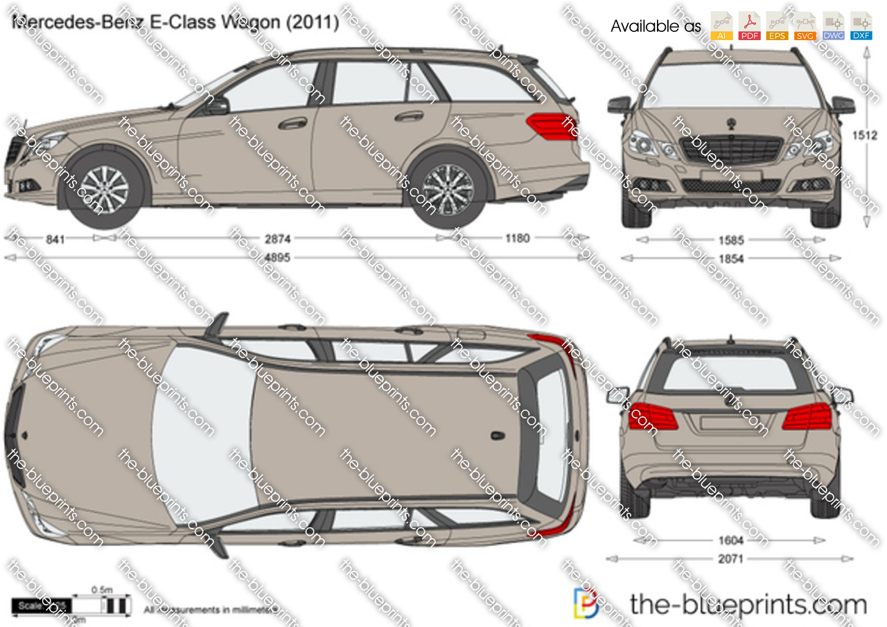 mercedes benz e class wagon w212 vector drawing. Black Bedroom Furniture Sets. Home Design Ideas