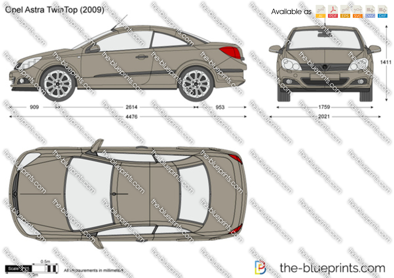 opel astra h twintop vector drawing. Black Bedroom Furniture Sets. Home Design Ideas