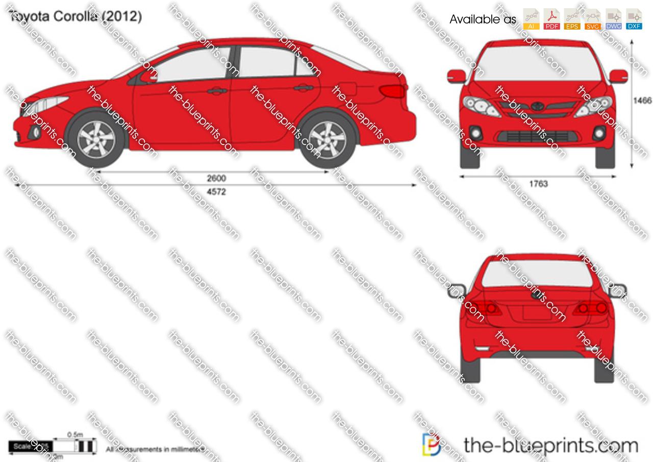 2009 Toyota Corolla For Sale >> Toyota Corolla vector drawing