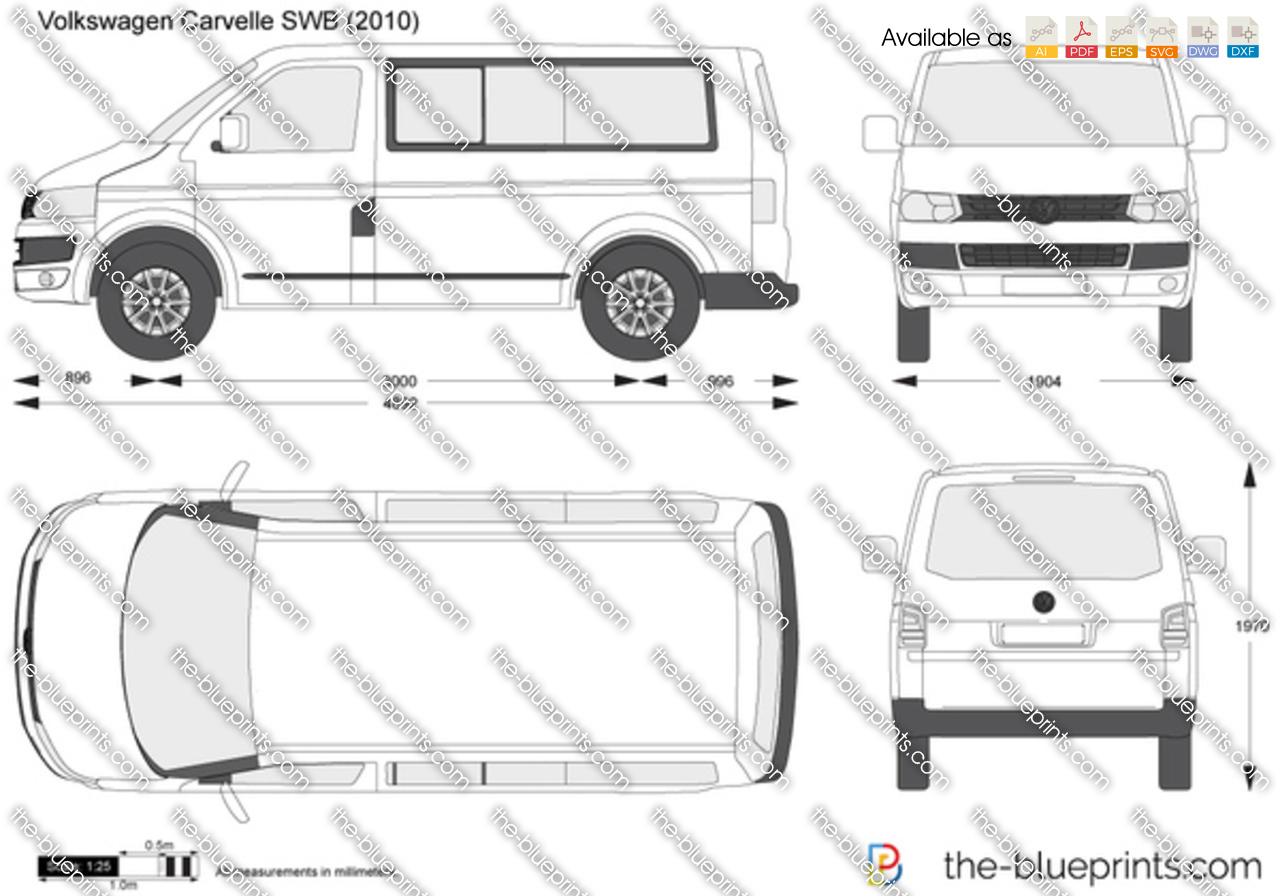 volkswagen caravelle swb vector drawing. Black Bedroom Furniture Sets. Home Design Ideas