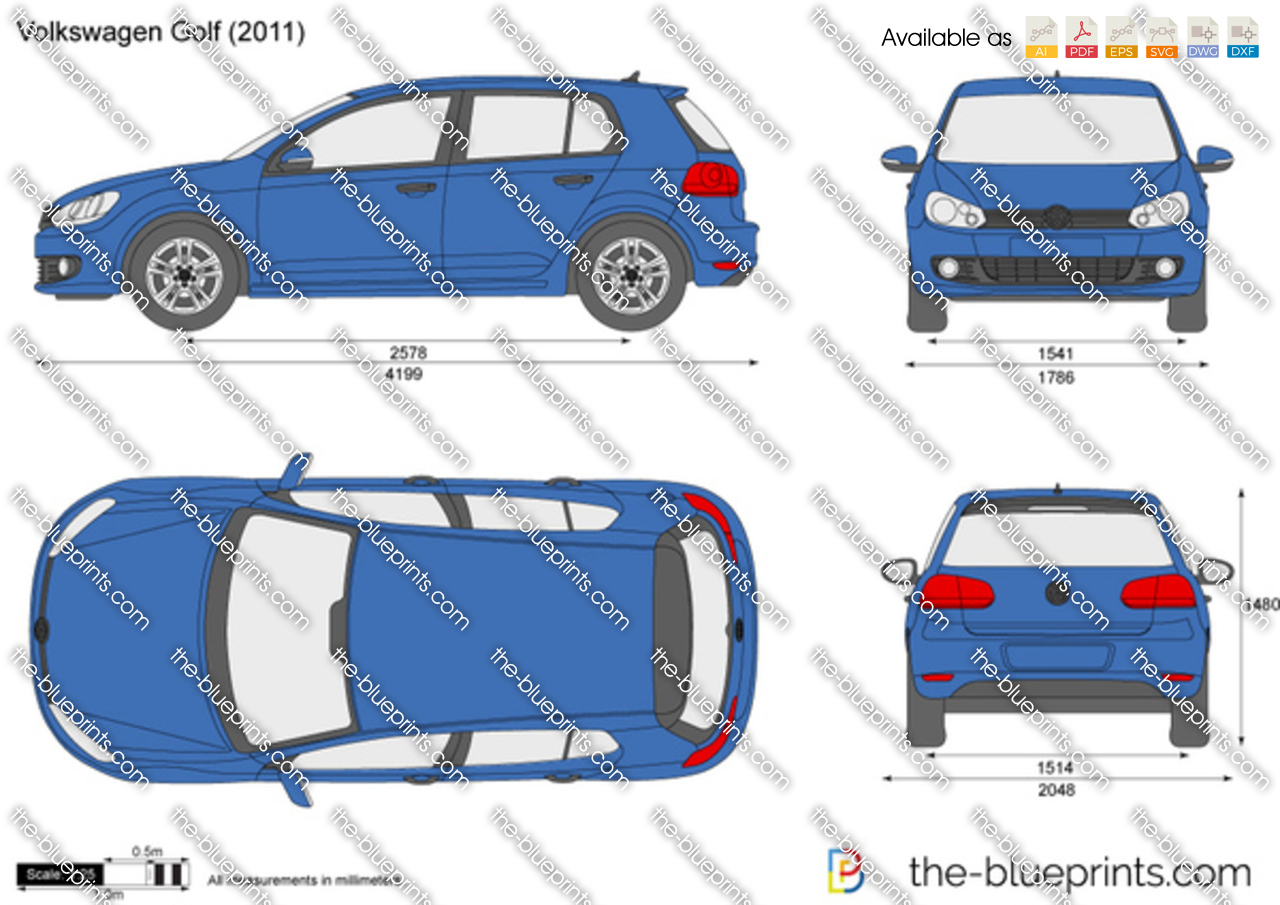 the vector drawing volkswagen golf. Black Bedroom Furniture Sets. Home Design Ideas