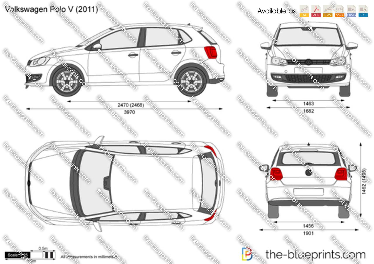 Vw Credit Login >> Volkswagen Polo V 5-Door vector drawing