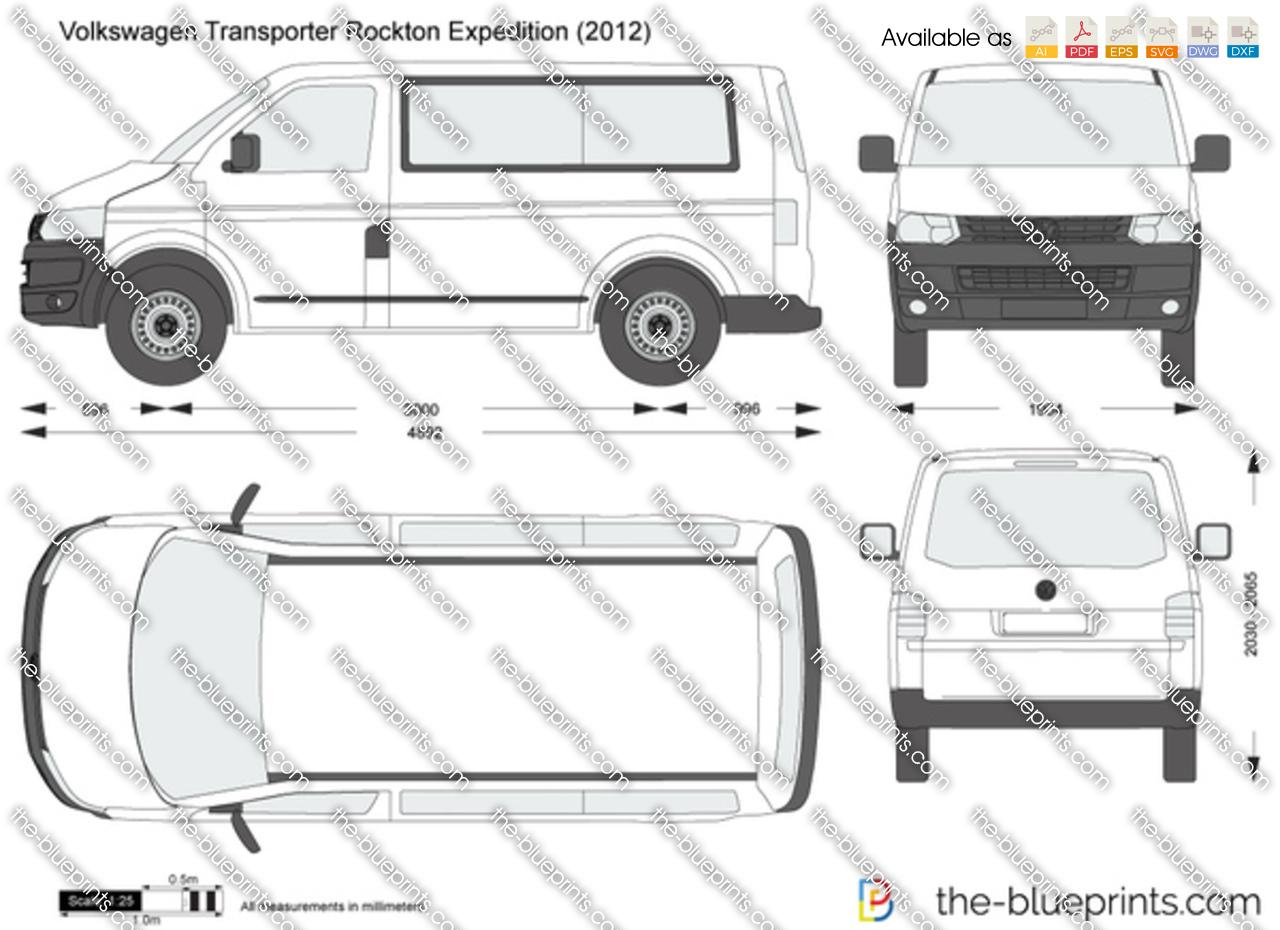 volkswagen transporter t5 rockton expedition vector drawing. Black Bedroom Furniture Sets. Home Design Ideas