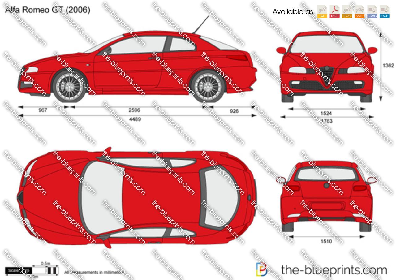 Alfa Romeo Gt Vector Drawing