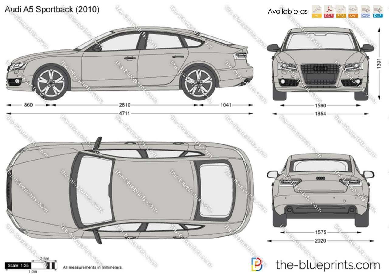 Audi A5 Sportback Vector Drawing