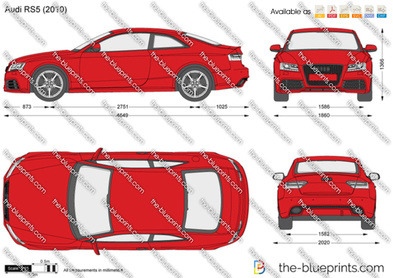 Audi Rs5 Vector Drawing