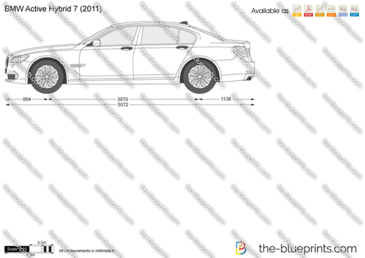 BMW ActiveHybrid 7 F04 vector drawing