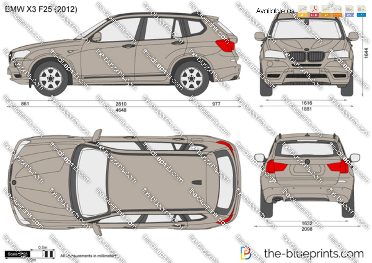 Bmw X3 F25 Vector Drawing
