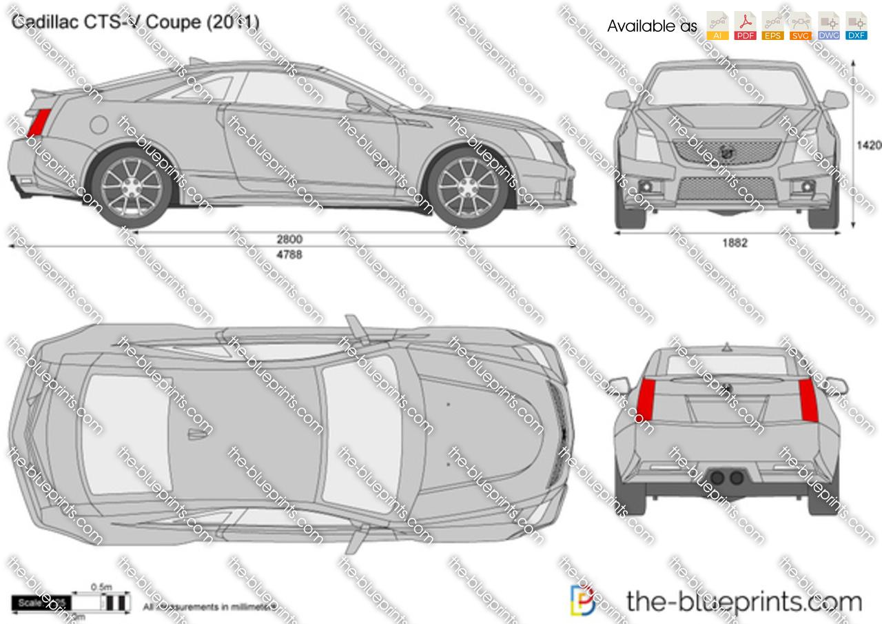 Cadillac Cts V Coupe Vector Drawing