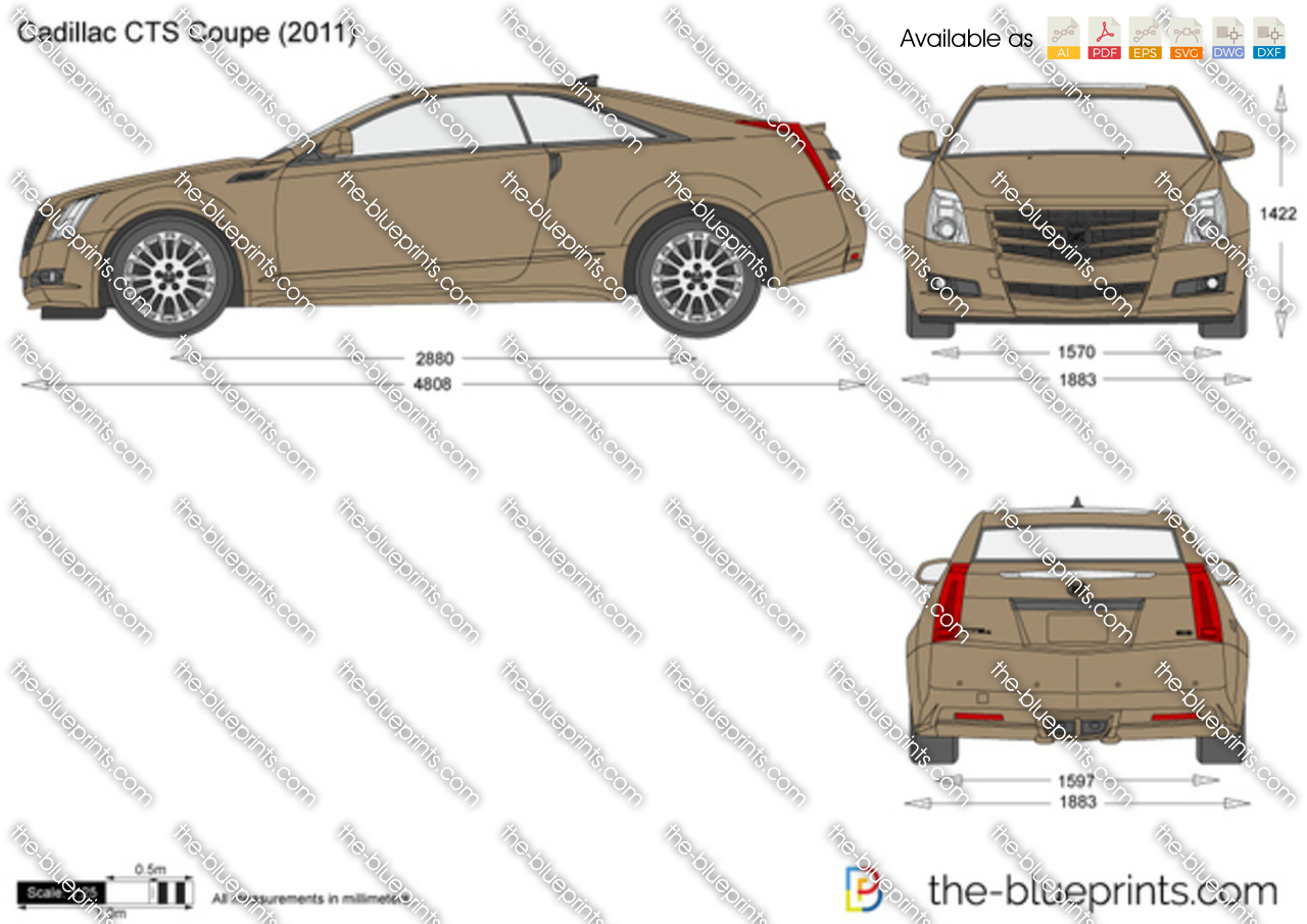 Cadillac Cts Coupe Vector Drawing