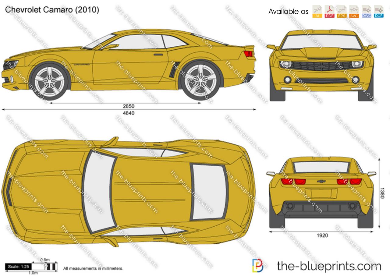 Chevrolet Camaro vector drawing