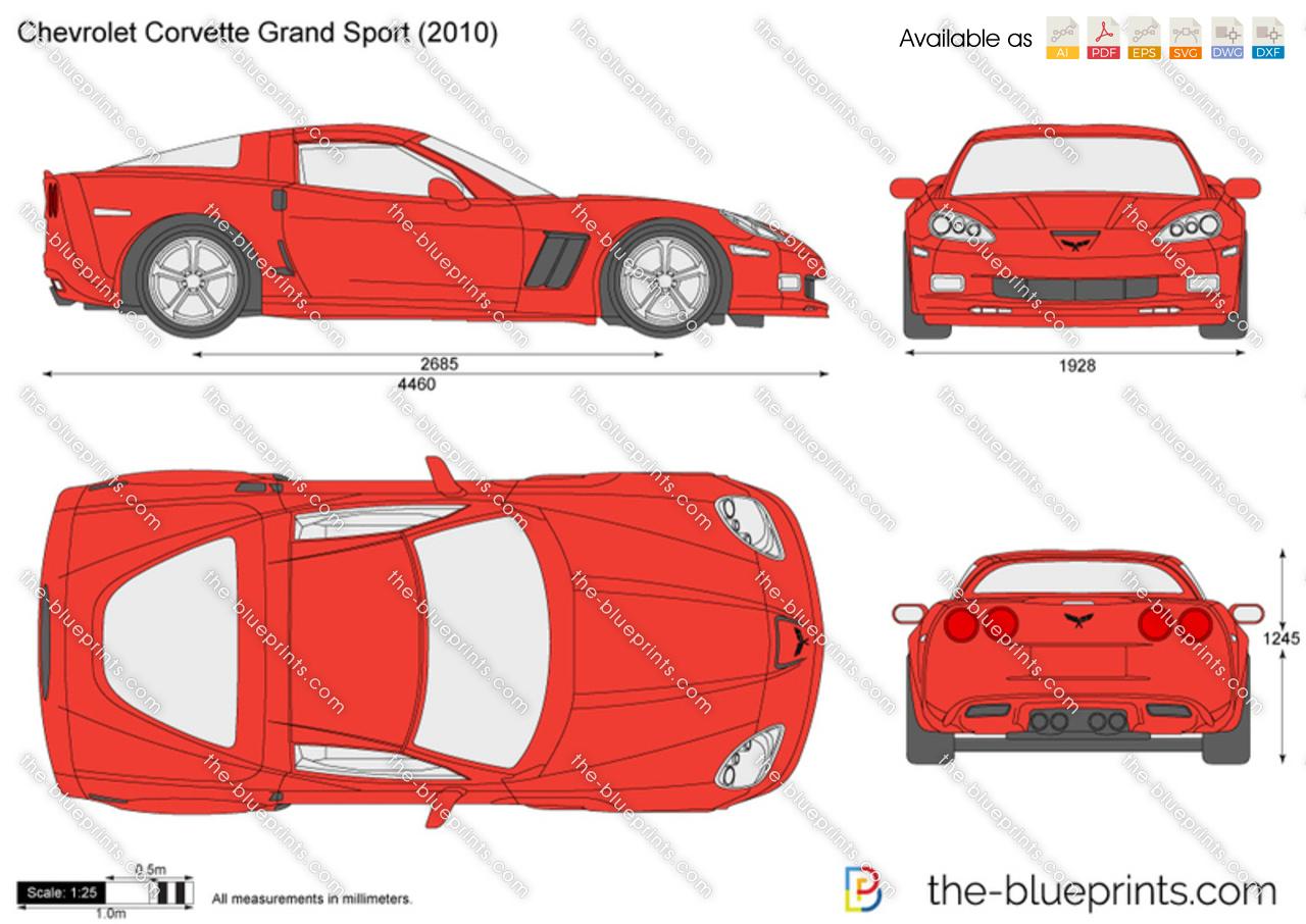 Chevrolet corvette grand sport vector drawing chevrolet corvette grand sport malvernweather Gallery