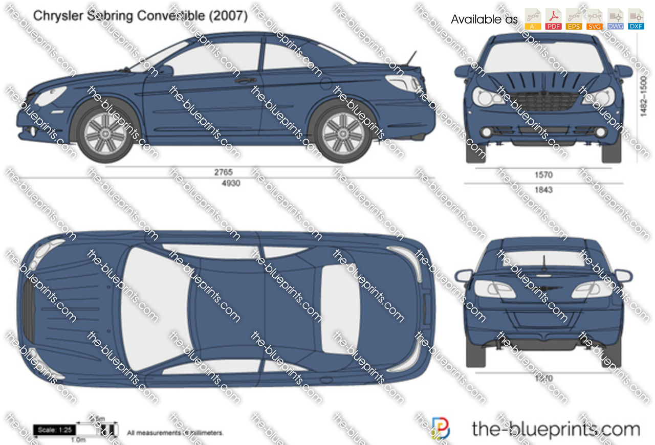 chrysler sebring convertible vector drawing. Black Bedroom Furniture Sets. Home Design Ideas