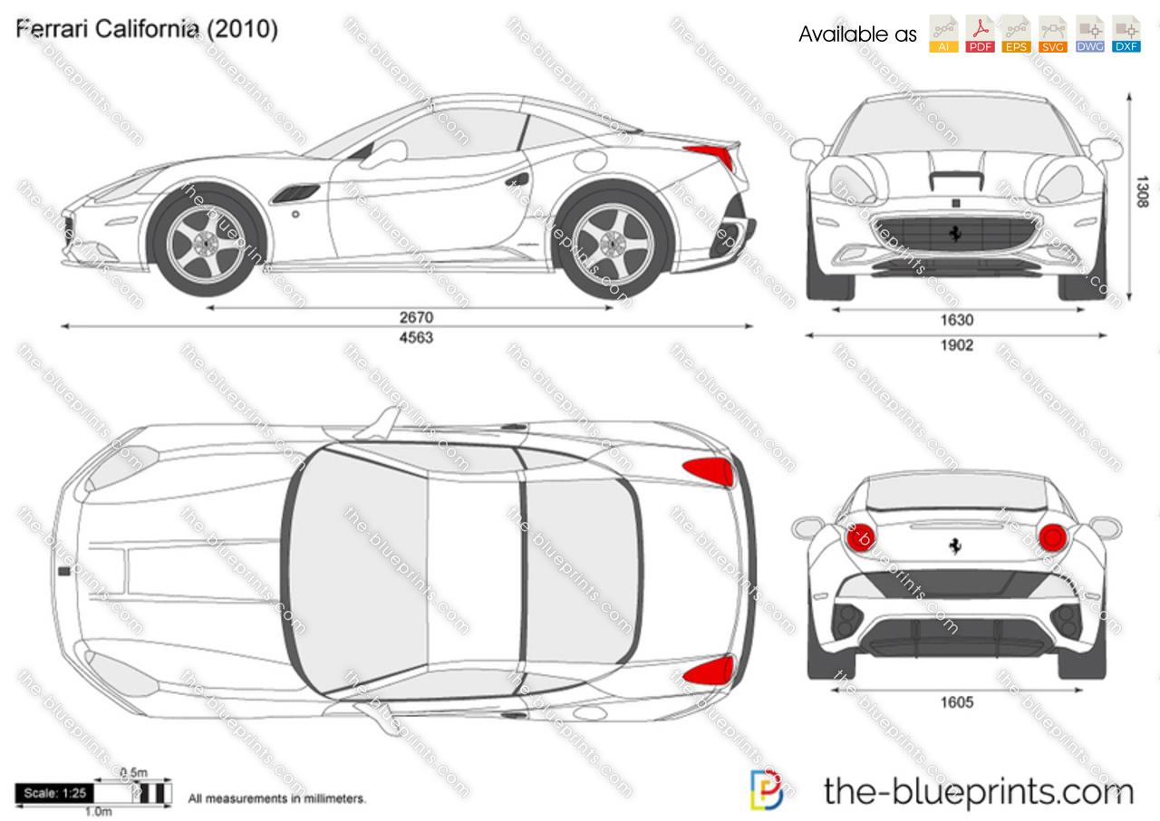 Range Rover Convertible Price >> Ferrari California vector drawing