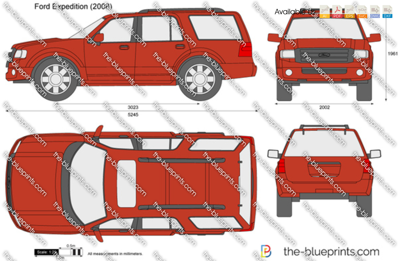 The-Blueprints.com - Vector Drawing - Ford Expedition