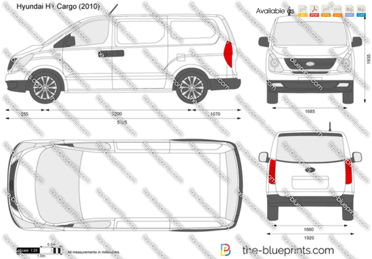 The Blueprints Com Vector Drawing Hyundai H1 Cargo