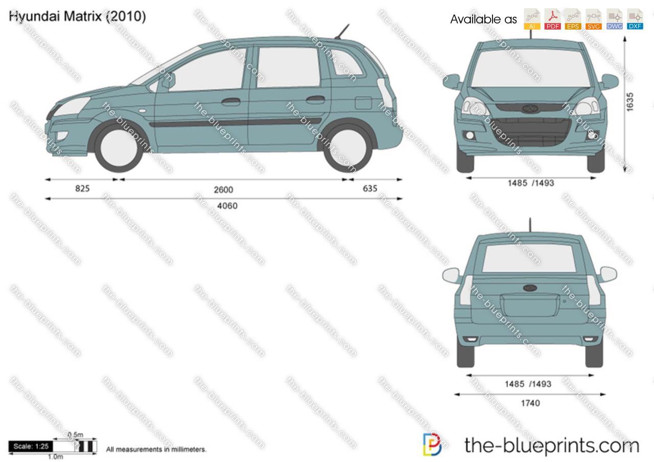 Hyundai hyundai matrix : The-Blueprints.com - Vector Drawing - Hyundai Matrix