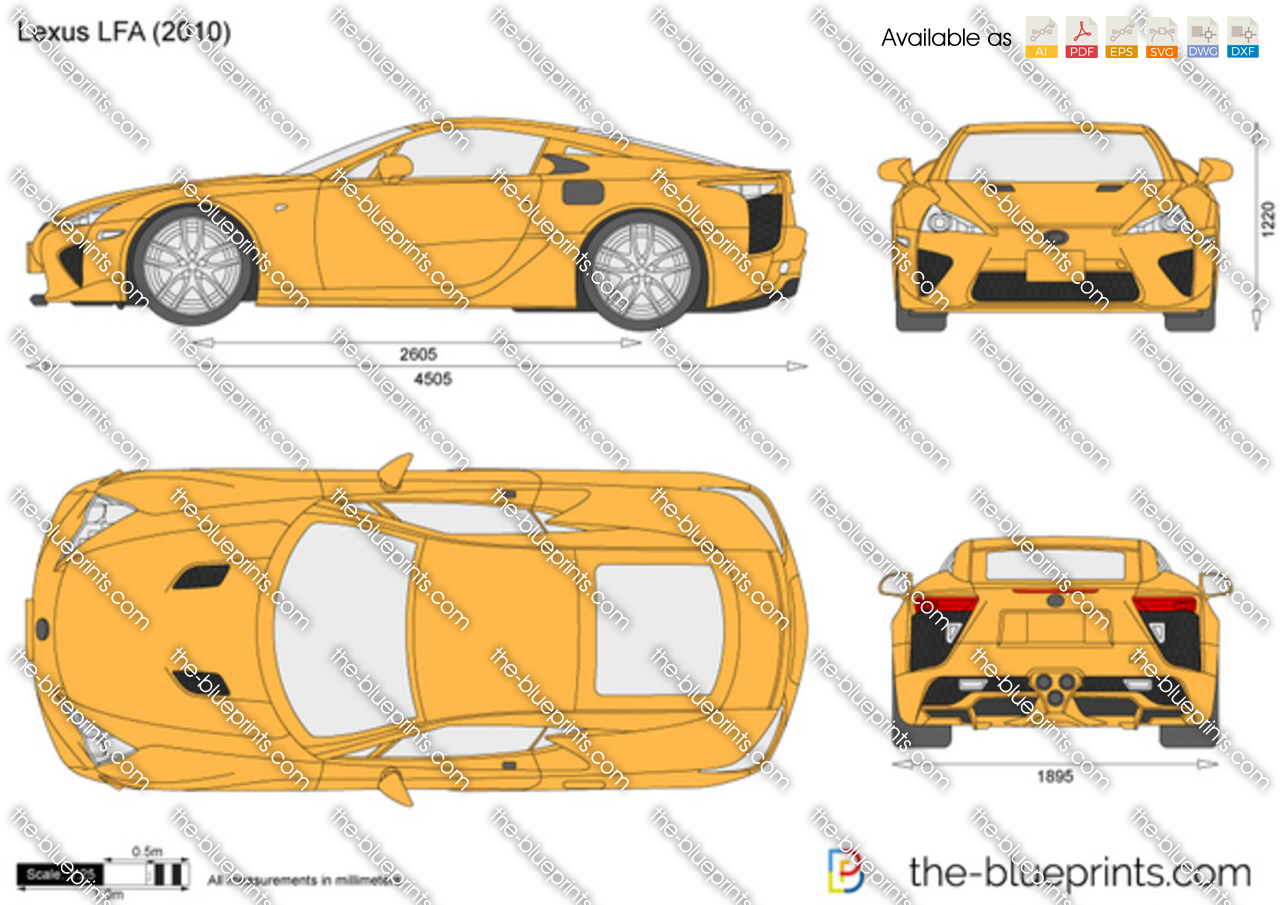 The Vector Drawing Lexus Lfa