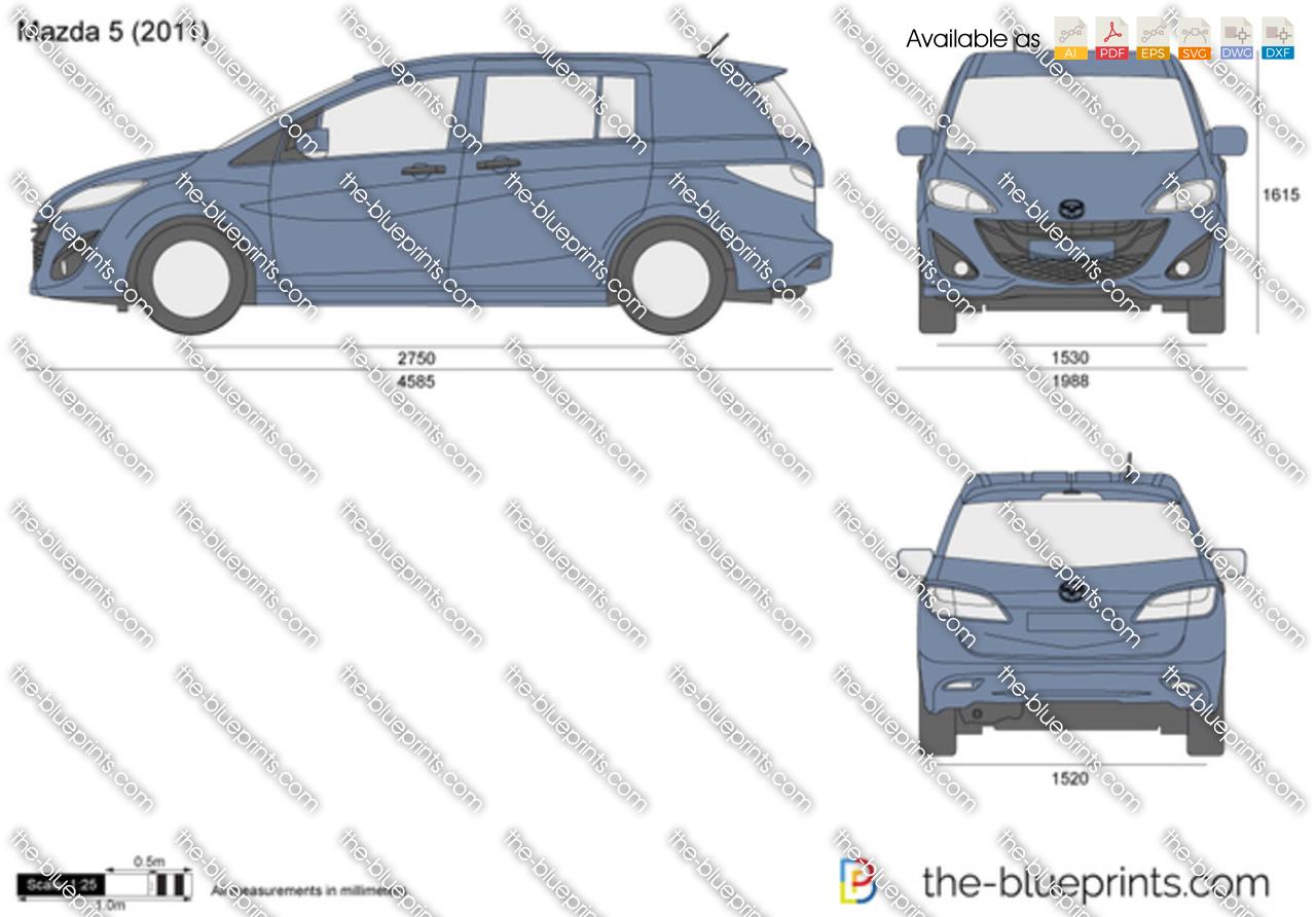 The Blueprints Com Vector Drawing Mazda 5